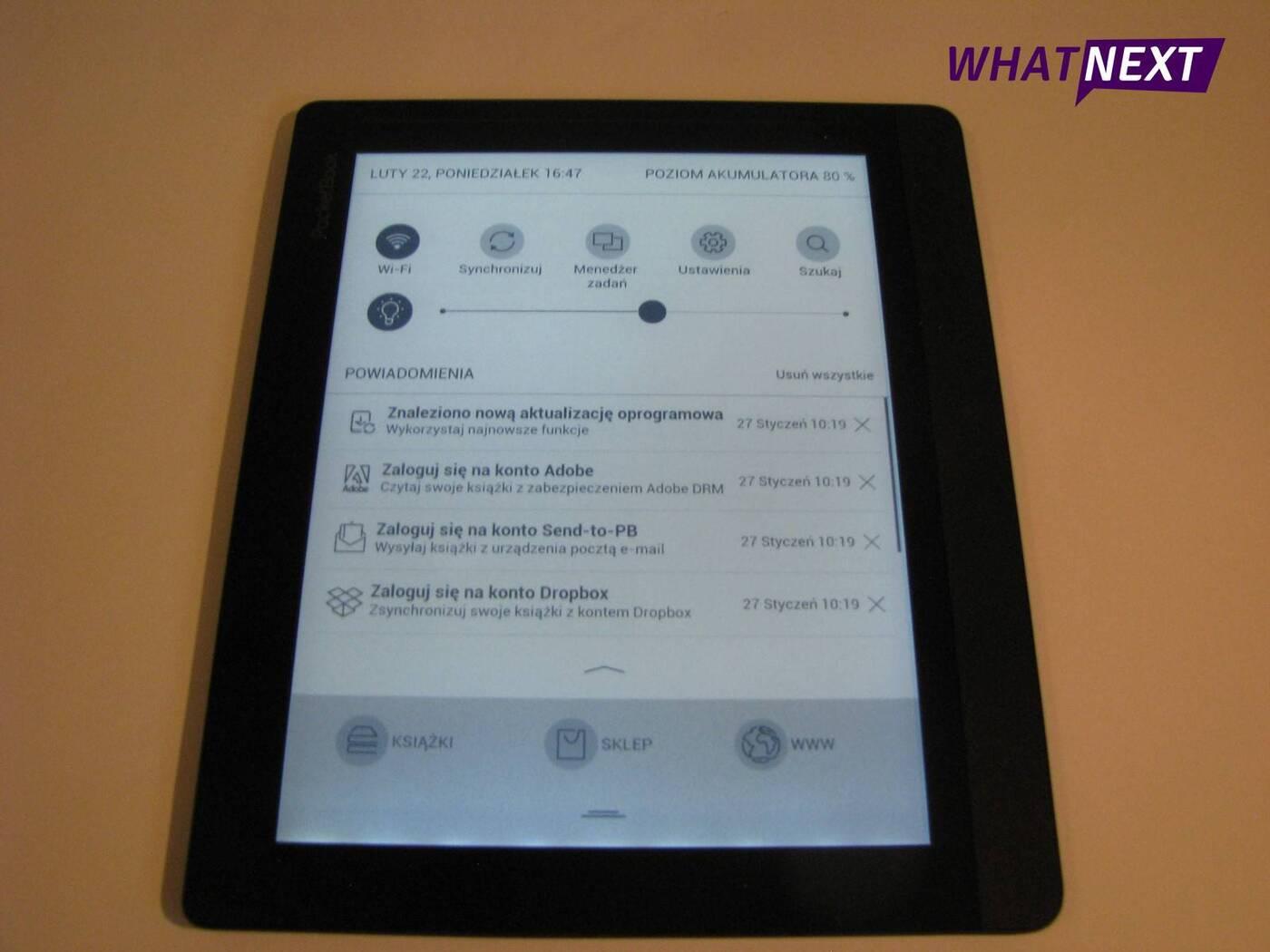Test czytnika e-booków PocketBook InkPad