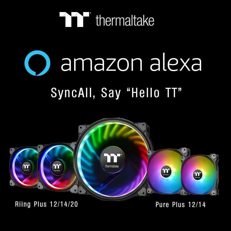 Thermaltake Riing Plus i Pure Plus RGB z obsługą Amazon Alexa