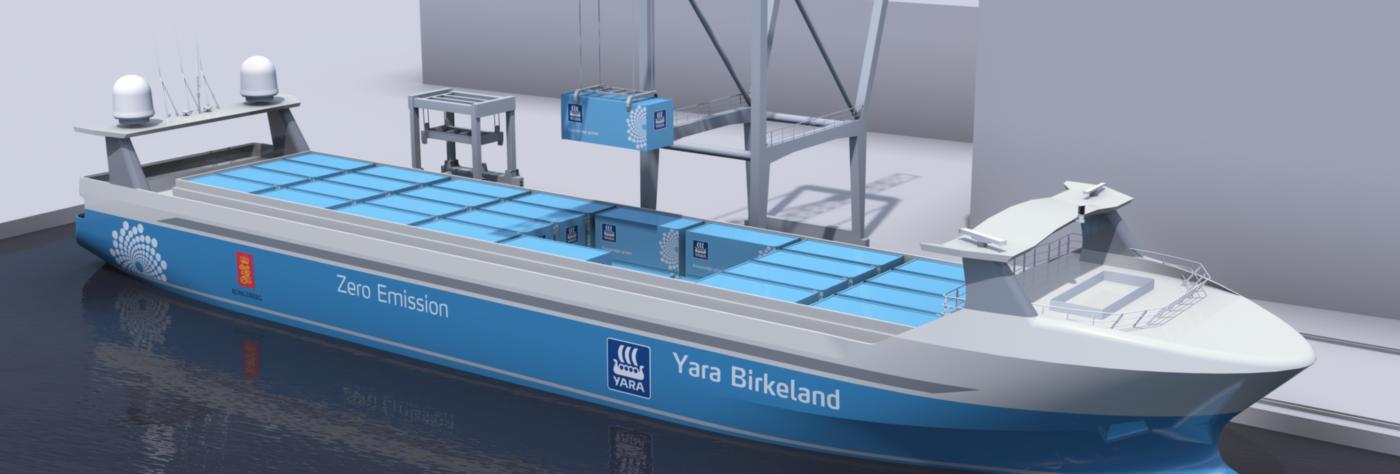 Yara Birkeland, YARA, VARD, statek, okręt, statek towarowy, autonomiczność autonomiczny statek, Norwegia, ENOVA,