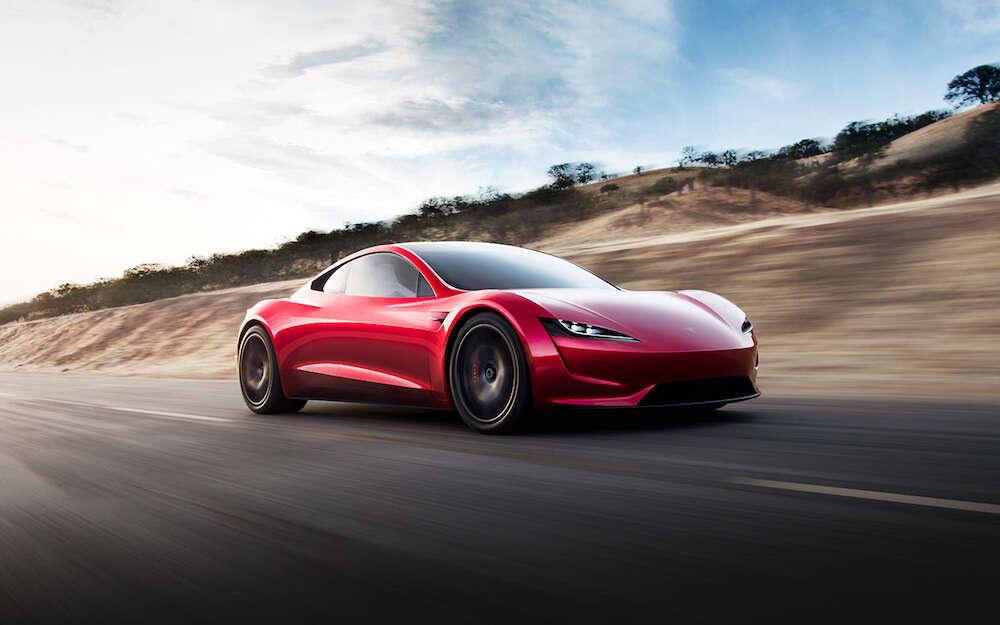 Tesla Roadster, silniki rakietowe Tesla, przyspieszenie Roadstera Tesli