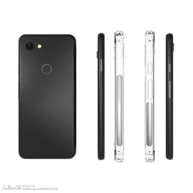 Google Pixel 3 Lite, etui Google Pixel 3 Lite, wygląd Google Pixel 3 Lite, render Google Pixel 3 Lite