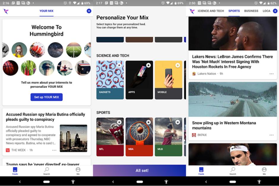 Microsoft Hummingbird dostarczy spersonalizowane newsy