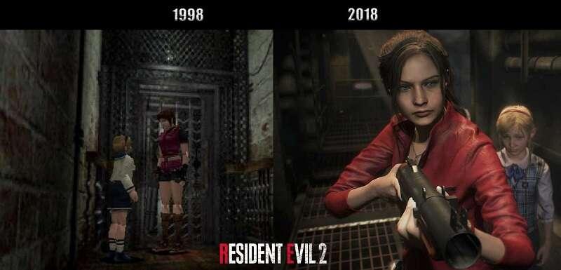 Porównanie graficzne Resident Evil 2 z wersją Remake