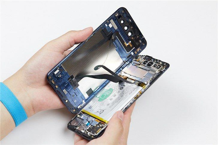 Vivo Nex Dual Screen, wnętrze Vivo Nex Dual Screen, otwieranie Vivo Nex Dual Screen, rozebranie Vivo Nex Dual Screen