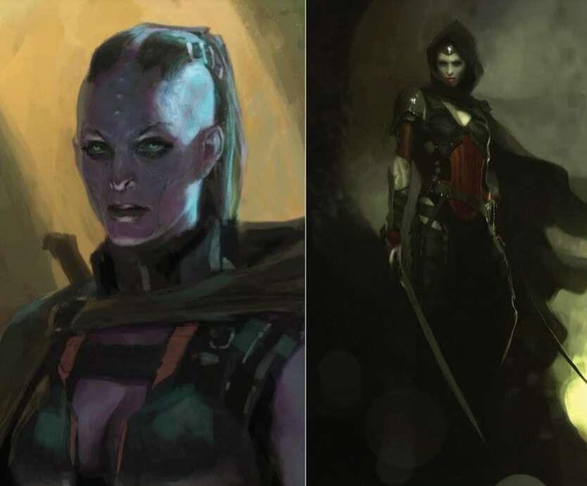 Alternatywny wygląd złoczyńców Marvela - Gamora