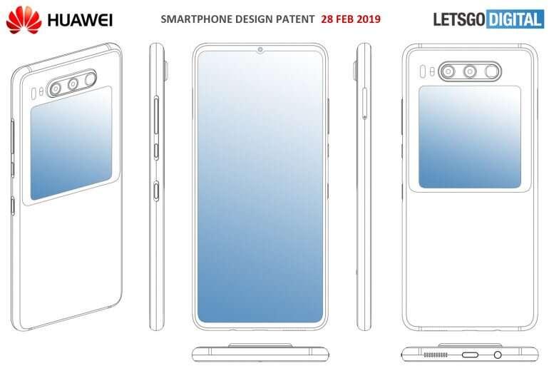 Huawei Mate 30, render Huawei Mate 30, wygląd Huawei Mate 30, patent Huawei Mate 30, design Huawei Mate 30
