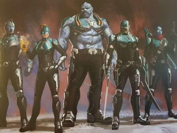 Grafiki koncepcyjne z Kapitan Marvel pokazują alternatywny wygląd Starforce