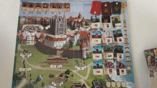Glory: A Game of Knights plansza zapełniona