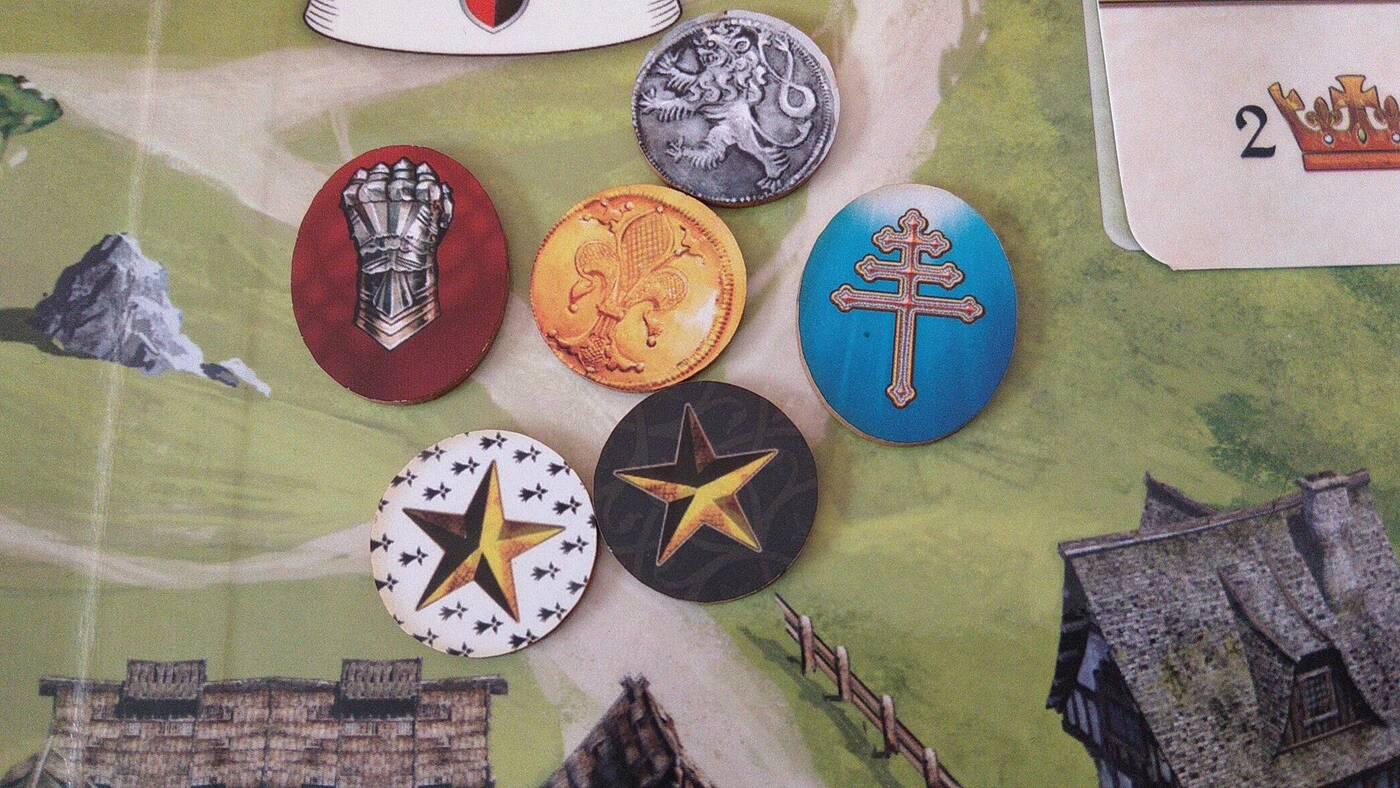 Glory: A Game of Knights żetony