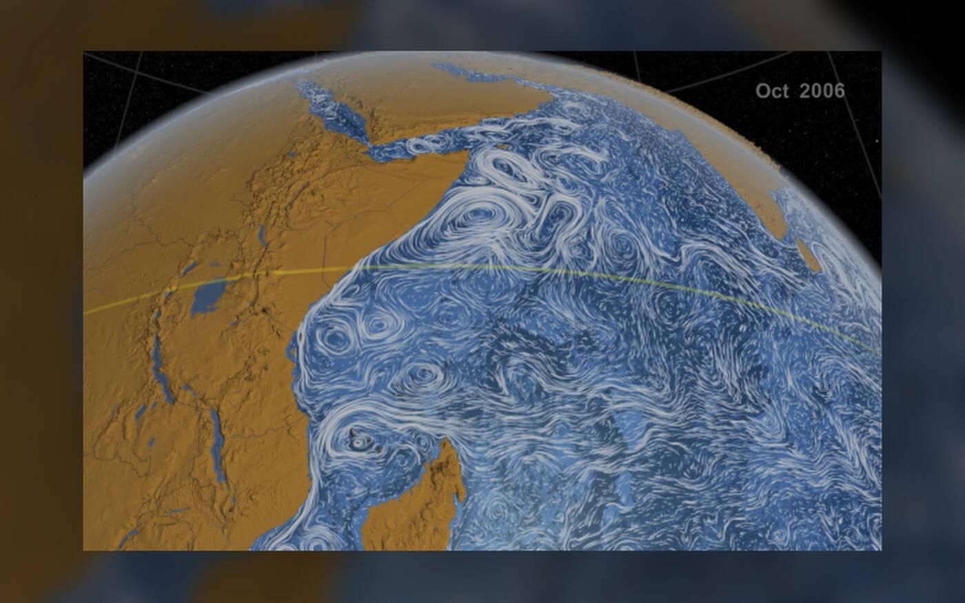 Naukowcy studiują postępujący olbrzymi wir na oceanie o wielkości Kolorado z kosmosu