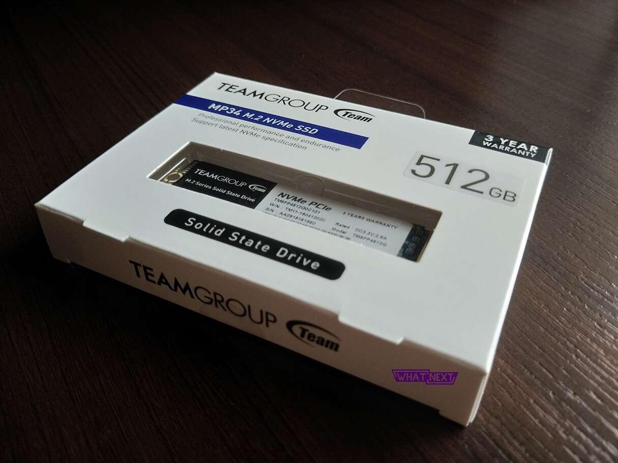 Test dysku TeamGroup MP34 512 GB na M.2