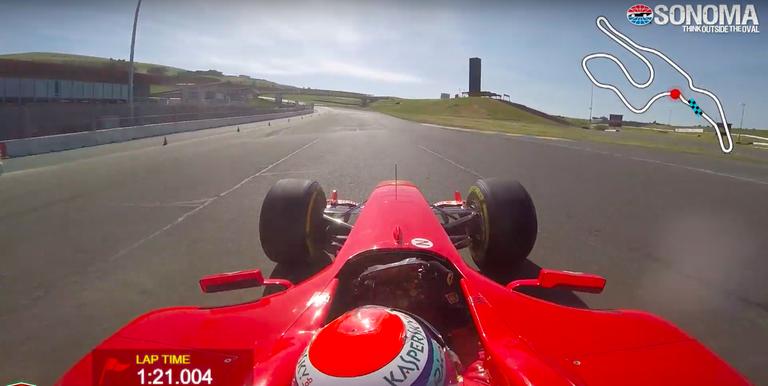 Obejrzyj, jak Ferrari F2004 ustanawia nowy rekord na torze Sonoma