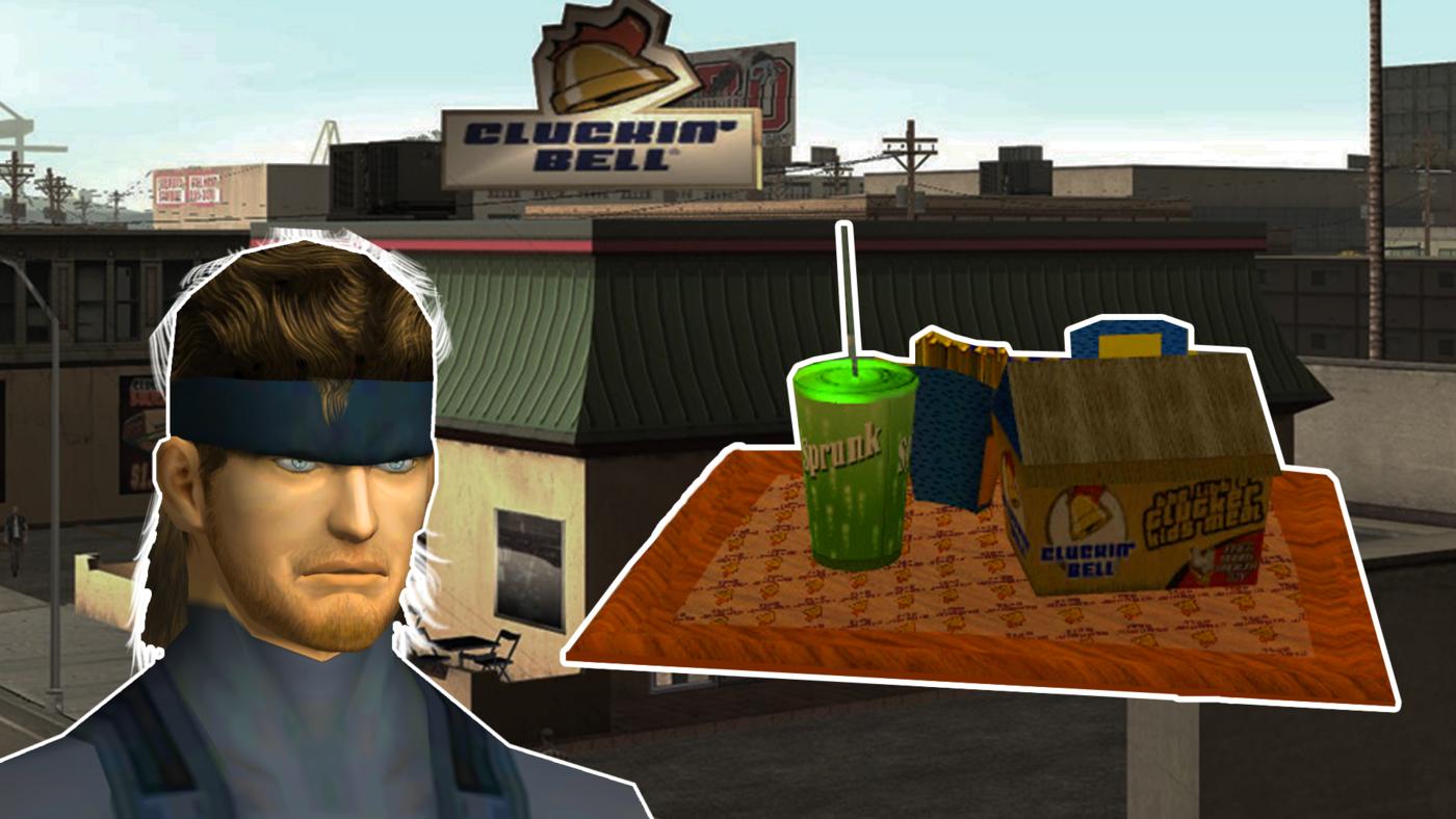Solid Snake zamawia zestaw Big Smoke'a z GTA: San Andreas