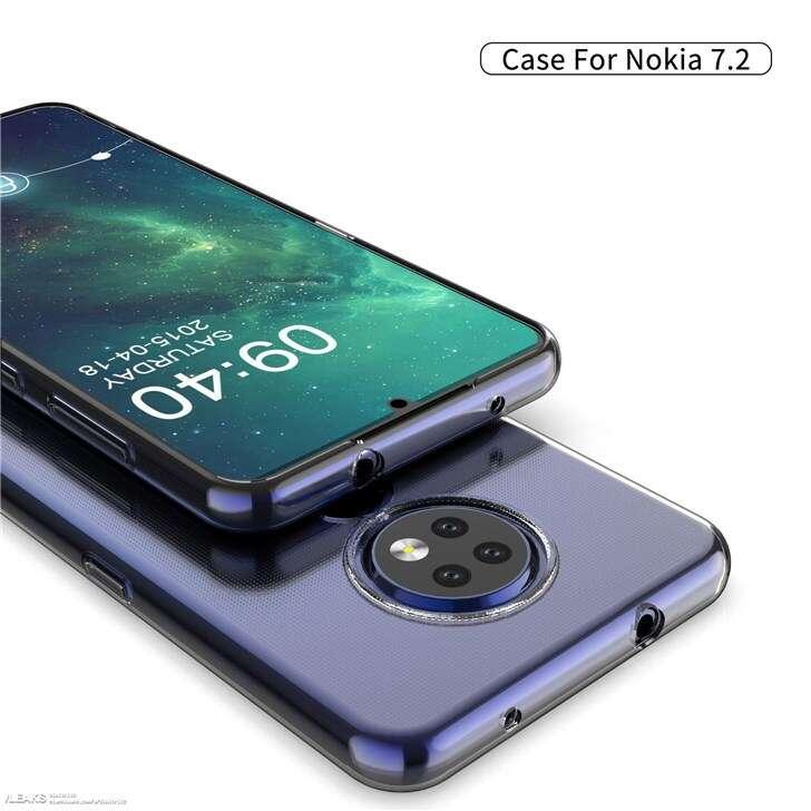 Nokia 7.2, render Nokia 7.2, rencery Nokia 7.2, etui Nokia 7.2, wygląd Nokia 7.2, aparaty Nokia 7.2, tył Nokia 7.2, moduł Nokia 7.2,