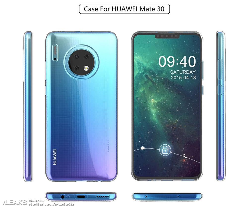Huawei Mate 30, render Mate 30, etui Mate 30, Huawei Mate 30 Pro, render Mate 30 Pro, etui Mate 30 Pro,