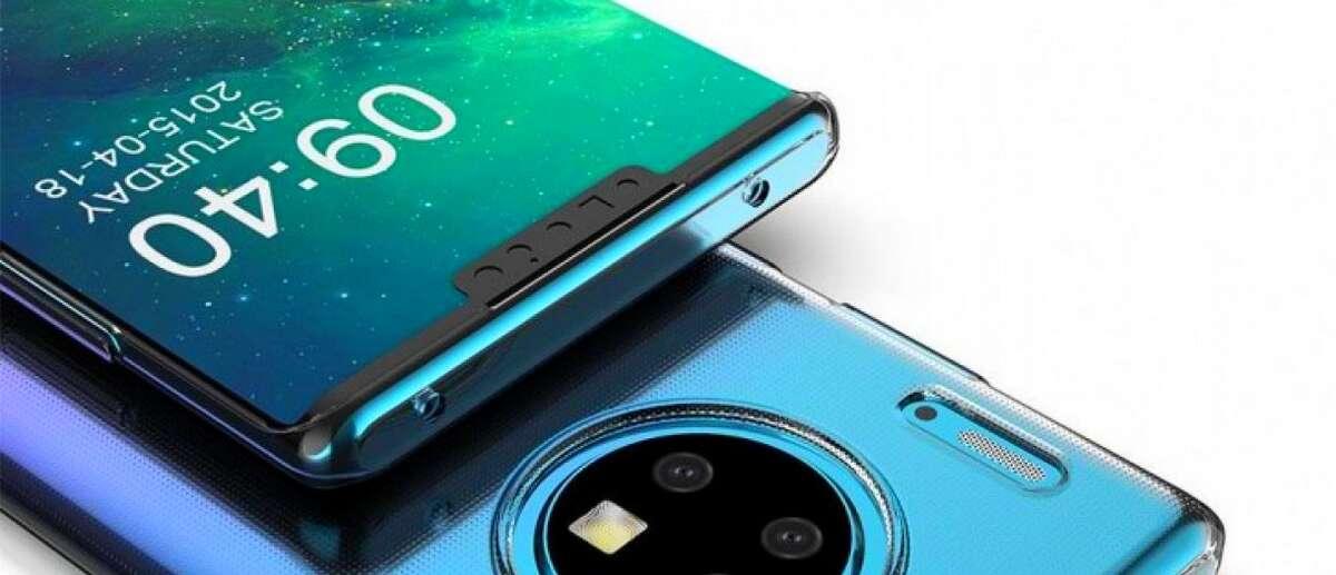 Etui na Huawei Mate 30 Pro potwierdza okrągły tylny moduł