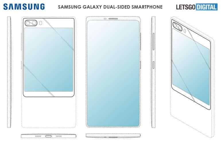 Samsung, dwa ekrany Samsung, patent Samsung, smartfon dwa ekrany Samsung, patent dwa ekrany Samsung