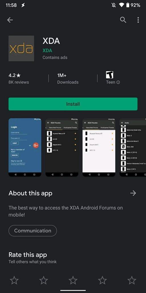Google Play, ciemny Google Play, ciemny motyw Google Play, motyw Google Play, interfejs Google Play, wygląd Google Play, design Google Play