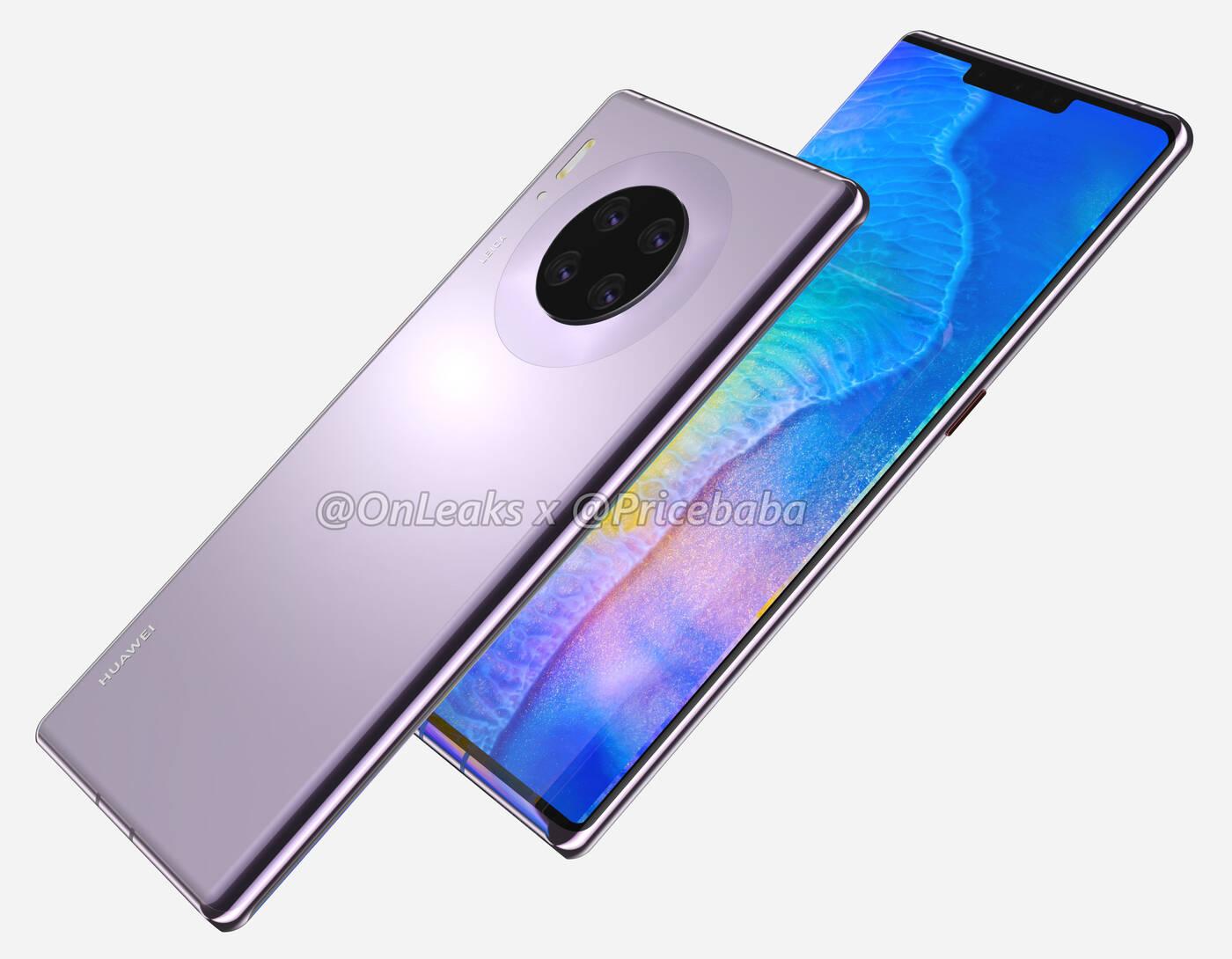 Huawei Mate 30 ze sporym notchem