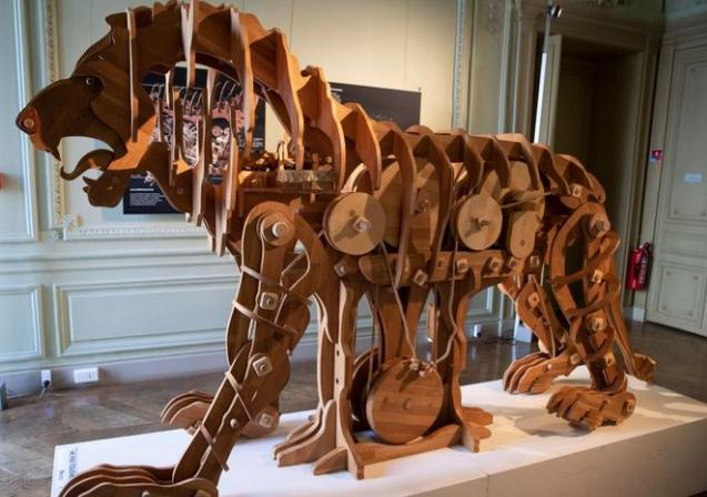 Tak wygląda mechaniczny lew zaprojektowany przez Leonarda da Vinci
