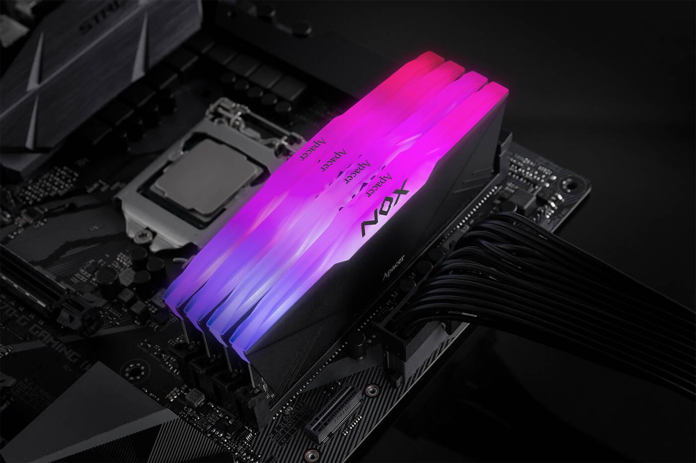 Test pamięci RAM Apacer NOX RGB 2×8 GB 3200 MHz