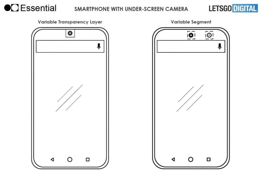 Essential patentuje apart pod ekranem