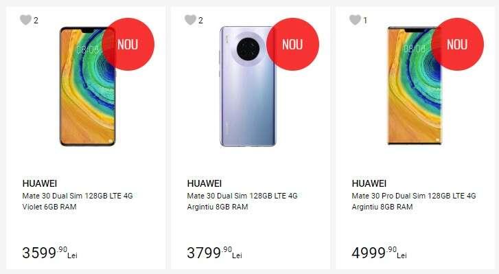 Seria Huawei Mate 30 pojawiła się w sklepie w Rumunii