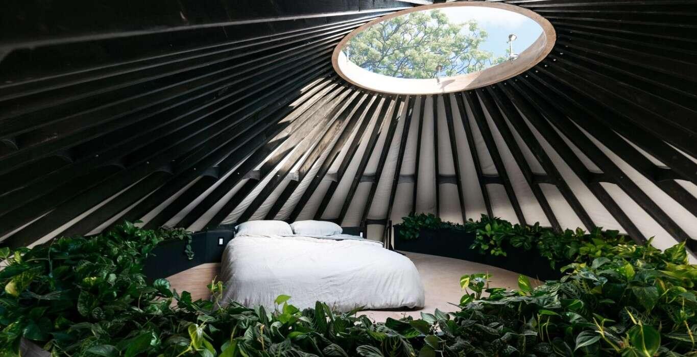 Rzućcie okiem na oryginalny dom w formie jurty