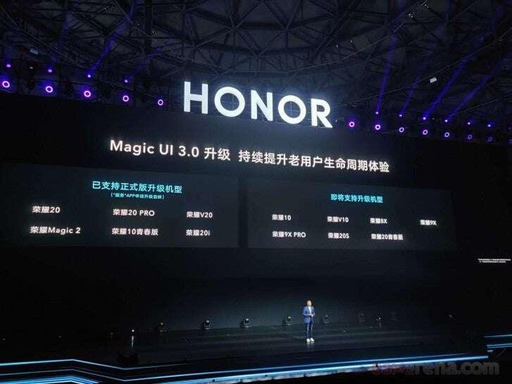aktualizacja smartfonów Honor, android 10 Honor, magic ui 3.0 Honor