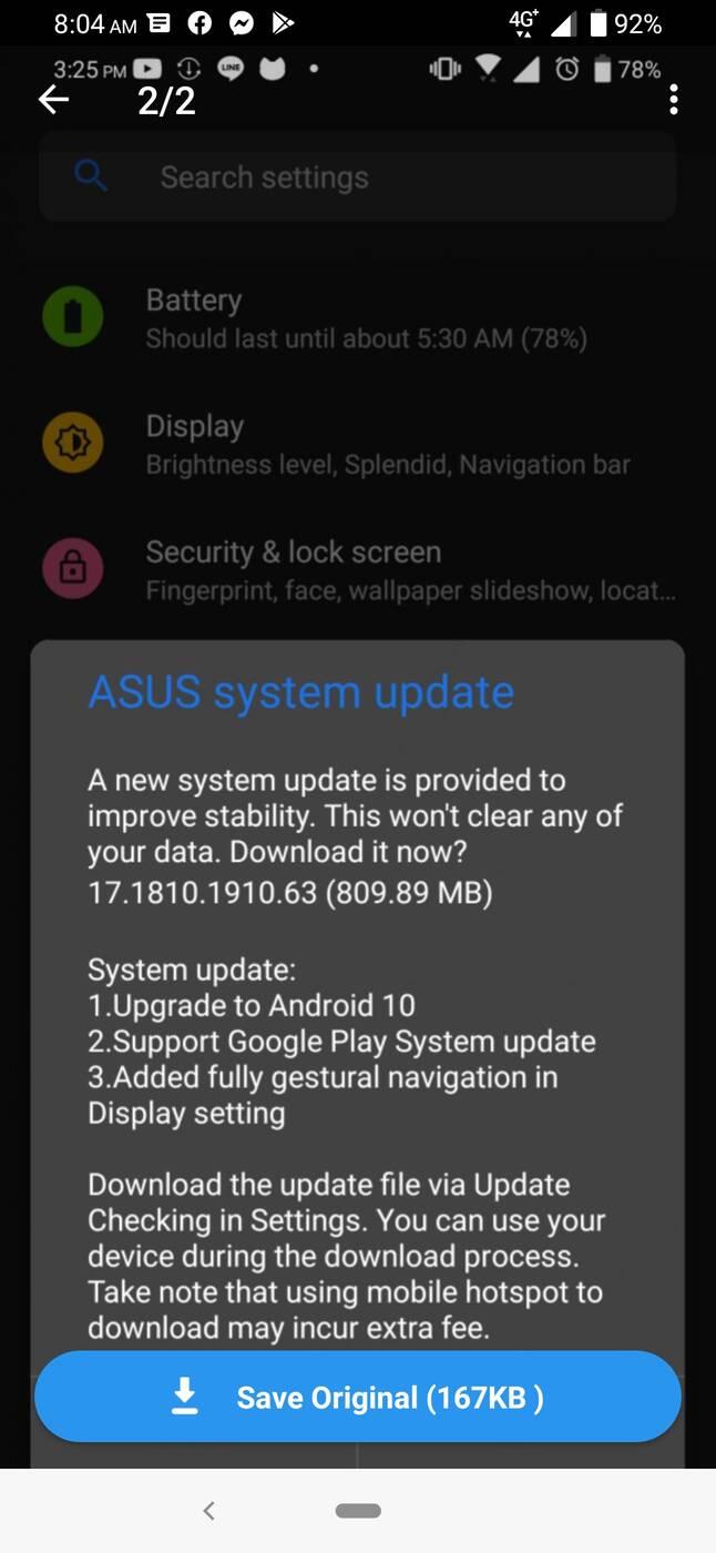 aktualizacja Zenfone 6 i 6Z, update Zenfone 6 i 6Z, system Zenfone 6 i 6Z, android 10 Zenfone 6 i 6Z