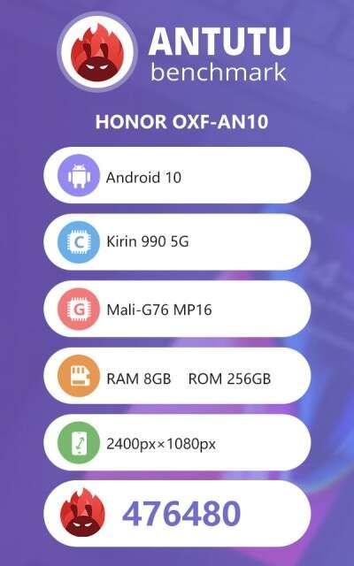 antutu Honor V30 Pro, wydajność Honor V30 Pro, test Honor V30 Pro