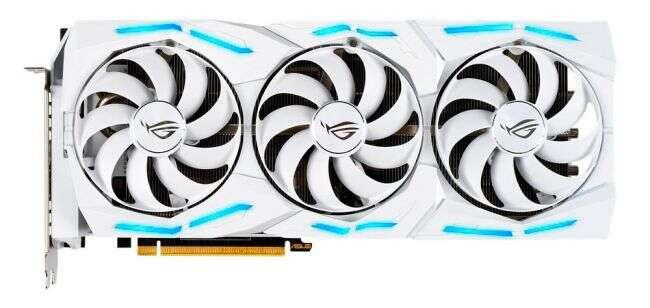 karta ROG Strix GeForce RTX 2080 Ti White Edition, wygląd ROG Strix GeForce RTX 2080 Ti White Edition, design ROG Strix GeForce RTX 2080 Ti White Edition, ROG Strix GeForce RTX 2080 Ti White Edition
