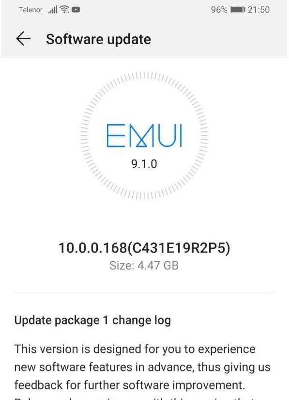 aktualizacja Huawei P30 i P30 Pro, emui 10 Huawei P30 i P30 Pro, android 10 Huawei P30 i P30 Pro