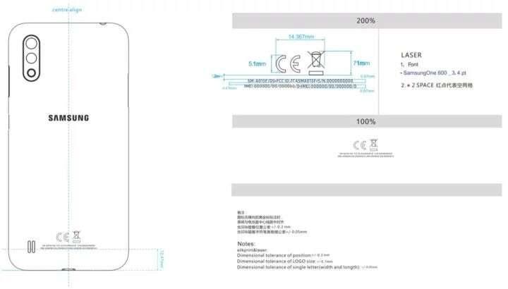 specyfikacja Galaxy A01, parametry Galaxy A01, FCC Galaxy A01