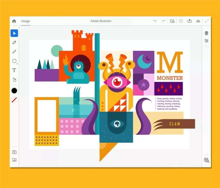ipad Adobe Illustrator, apple Adobe Illustrator, aplikacja ipad Adobe Illustrator