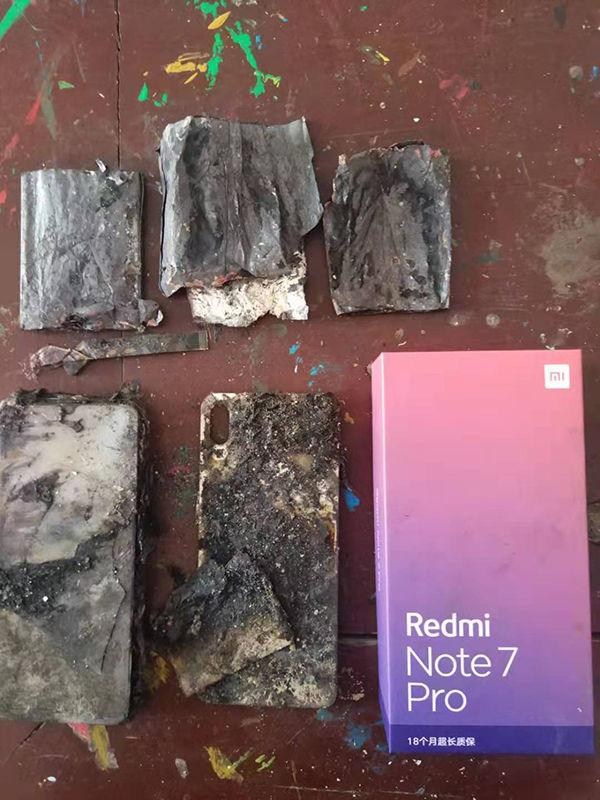 pożar Redmi Note 7 Pro, płomienie Redmi Note 7 Pro