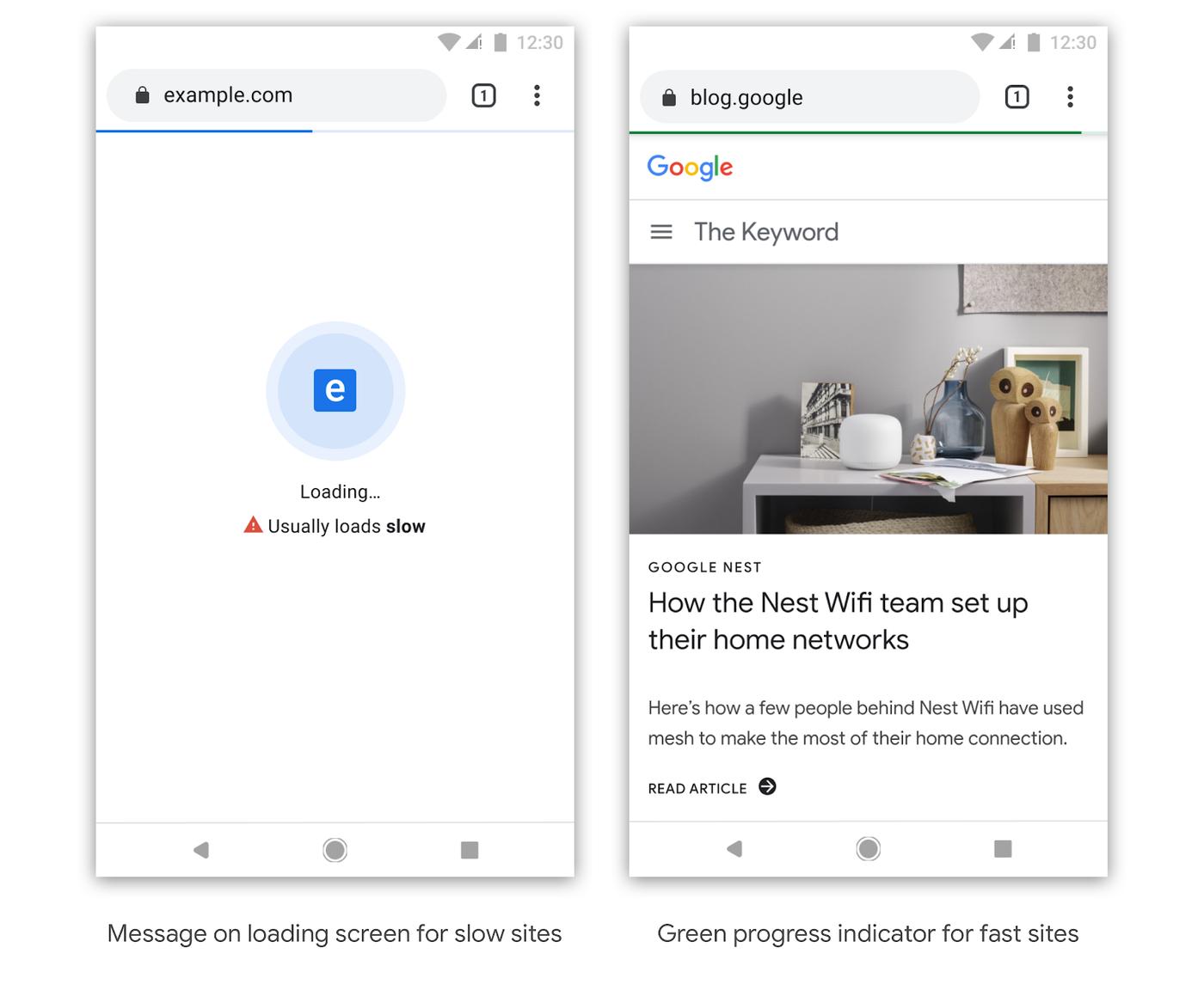 strona Google Chrome, ocena strony Google Chrome, szybkość strony Google Chrome
