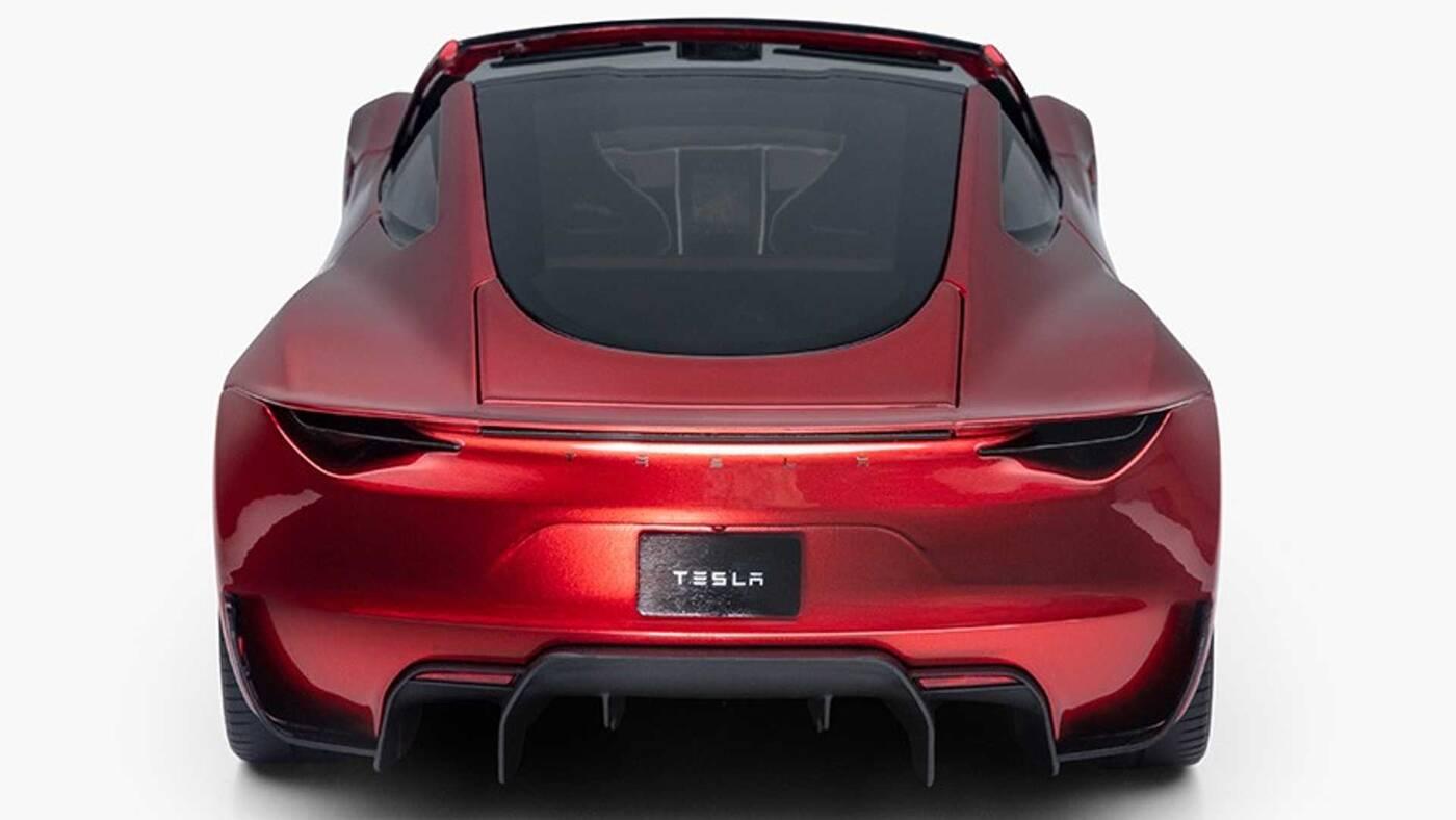 Tesla Roadster 2.0, zabawka Tesli, Roadster Tesli, odlew roadstera Tesli
