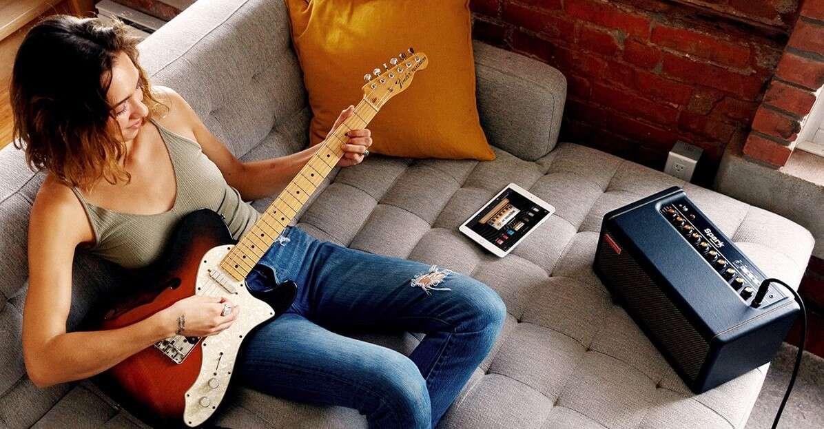 Inteligentny wzmacniacz Spark, wzmacniacz Spark, nauka gry na gitarze Spark