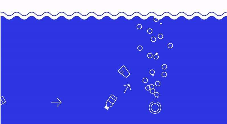 bąbelki w kanale, bariera bąbelkowa, walka z odpadami, plastik w morzach