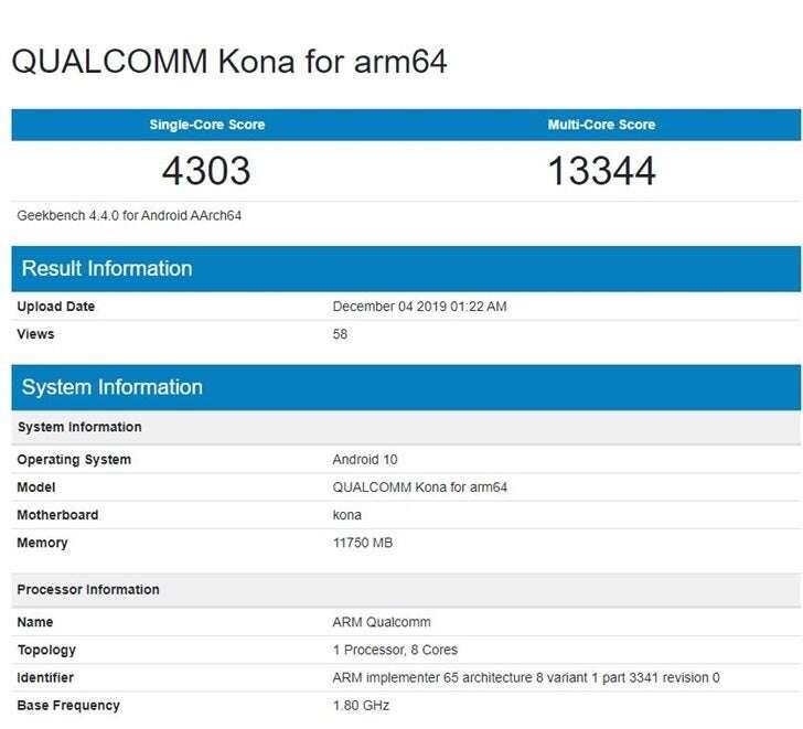 benchmark Snapdragon 865 , geekbench Snapdragon 865 , test, Snapdragon 865 , wydajność Snapdragon 865