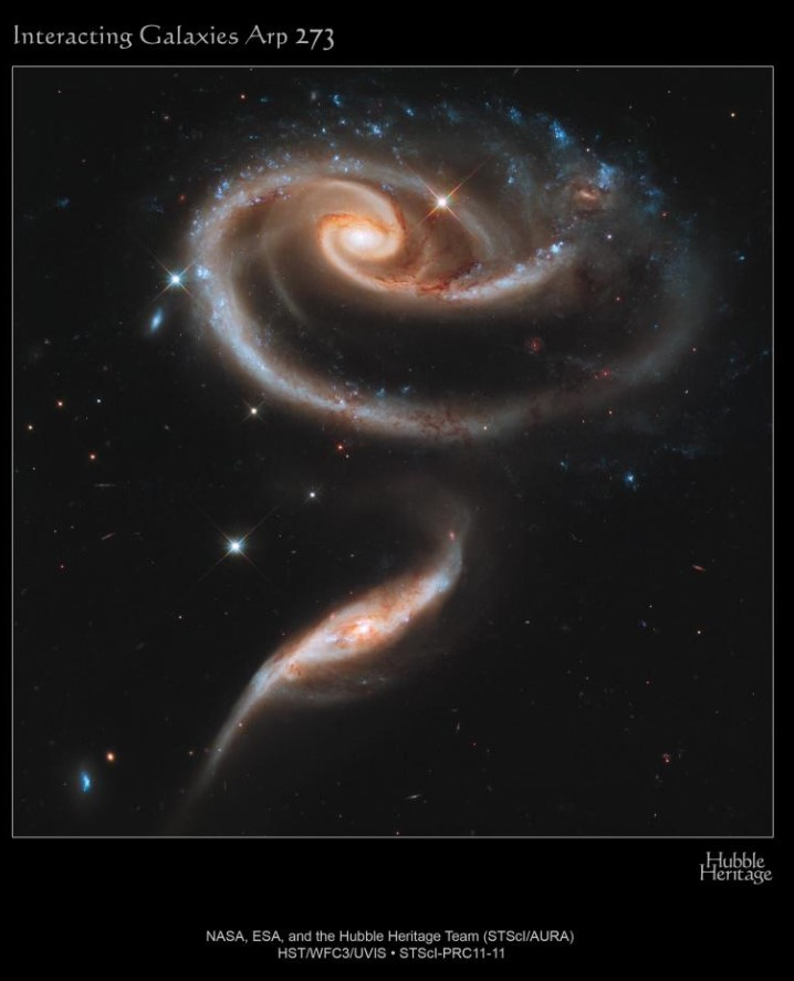 interakcja galaktyk, Arp 293, NGC 6286, NGC 6285
