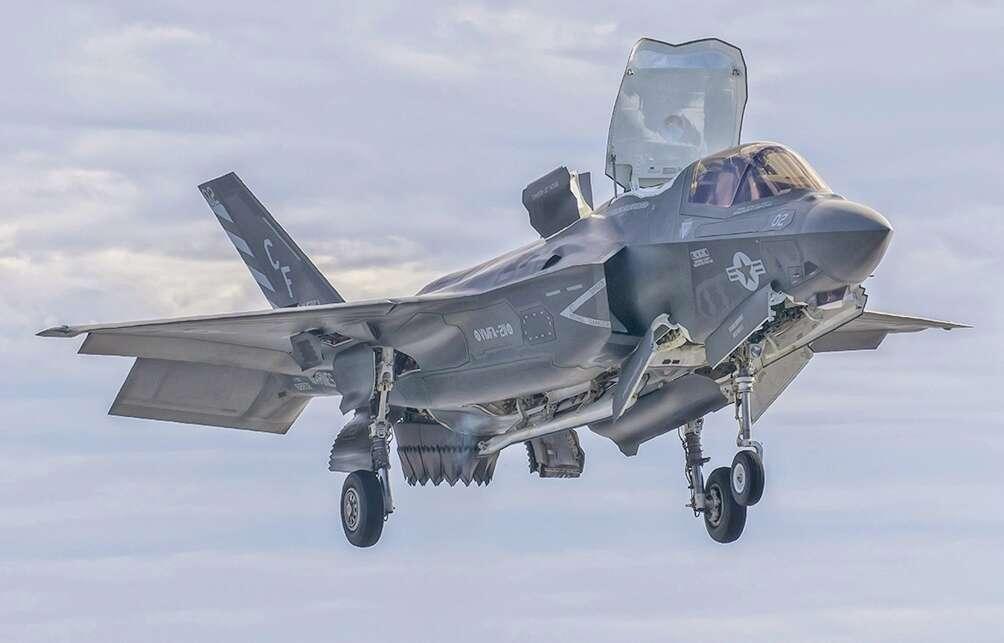 kokpicie myśliwca F-35, kokpit myśliwca F-35, kokpit F-35