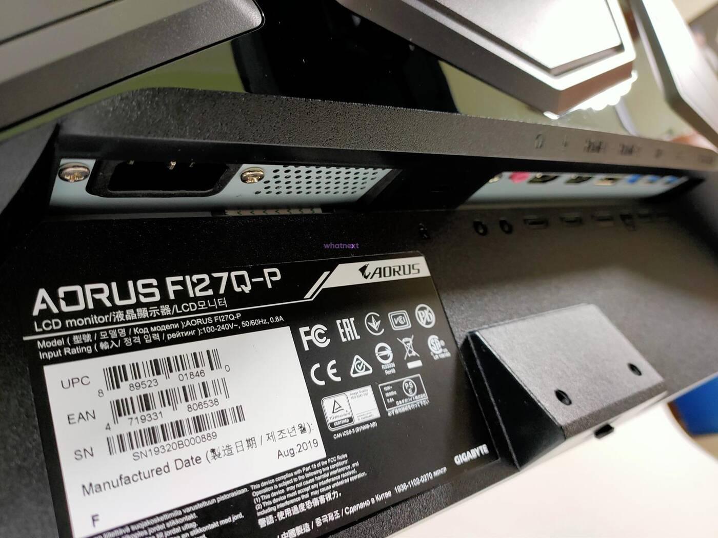 test Aorus F127Q-P, recenzja Aorus F127Q-P, review Aorus F127Q-P, opinia Aorus F127Q-P