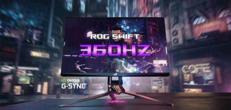 monitor ROG Swift 360 Hz, asus ROG Swift 360 Hz, nvidia ROG Swift 360 Hz
