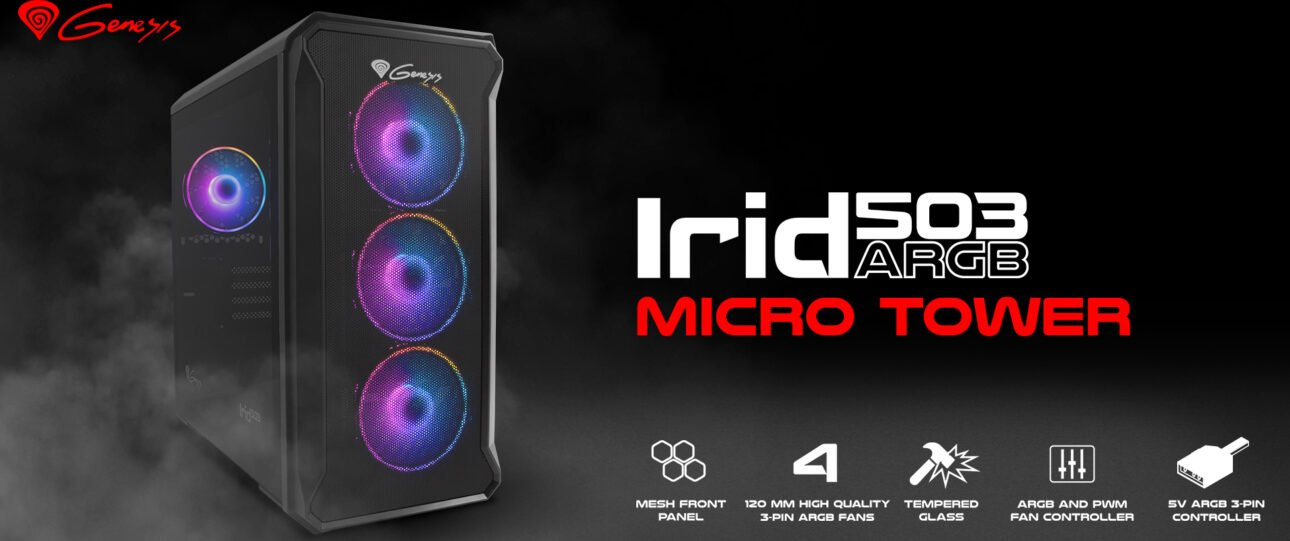 Test obudowy Genesis Irid 503 ARGB