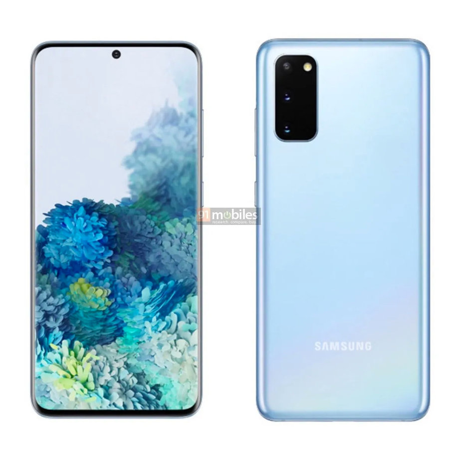 Samsung Galaxy S20 niebieski