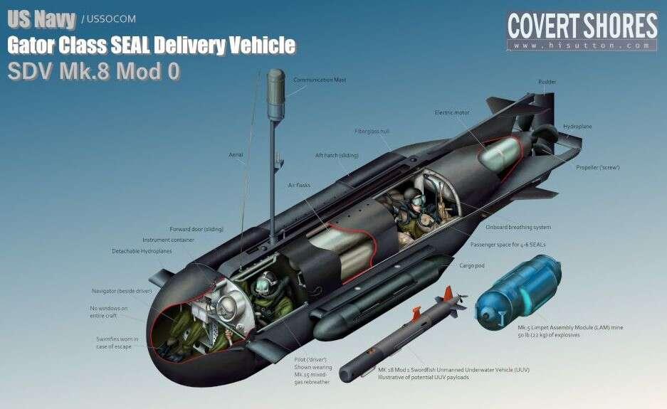 mały okręt podwodny, okręt podwodny SEAL, SDV, Mark 8, Gator Class