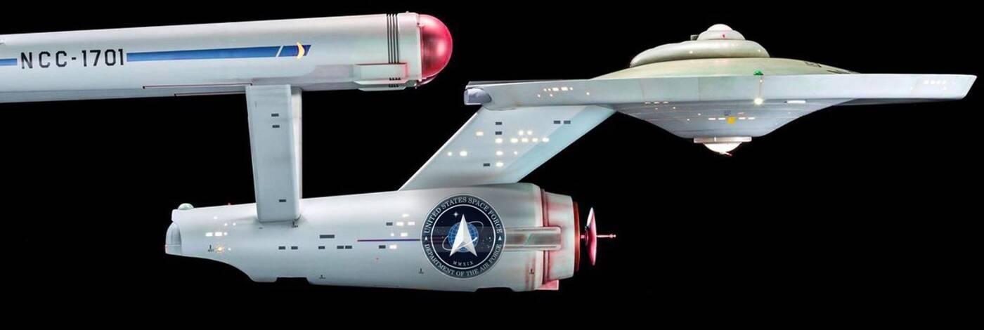 To nie nowe logo Star Treka, a sił Space Force USA