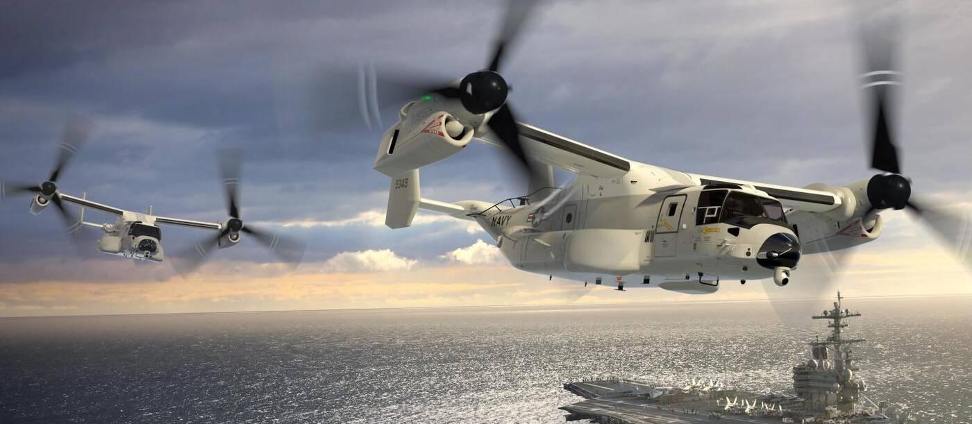 CMV-22B Osprey, testy CMV-22B Osprey, lot Osprey, statek towarowy armii USA